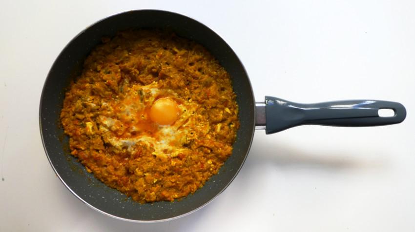 receta mirza ghasemi - berenjena sarten