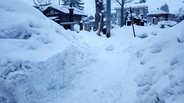 排雪、始末後1
