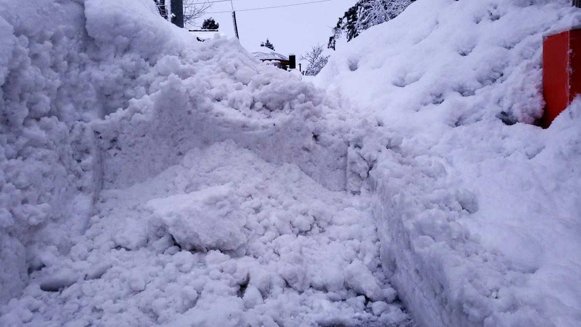 積み上げられた排雪1