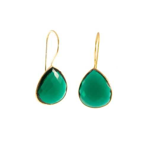 Örhänge Effie Golden Emerald