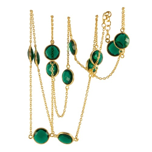 Halsband Carmen Golden Emerald