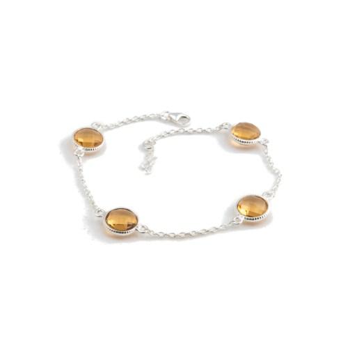 Armband Amelie Silver Champagne i silver och tillverkad kvarts likt champagne