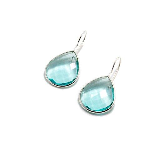 Effie Silver Lagun örhänge i äkta silver och tillverkad ljust turkos sten