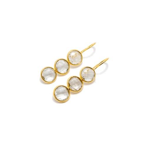 Örhängen - Yasmine Golden Crystal