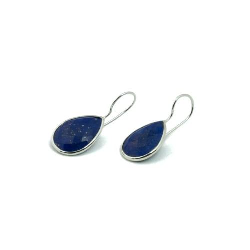 Örhängen med sten av äkta lapis lazuli infattat i sterlingsilver