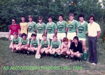 As Andolsheim Juniors 1981 1982