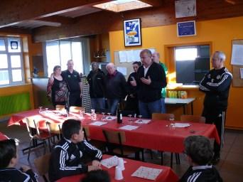 As Andolsheim fête Noël club-house 3 équipes U13