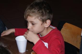 trentaine jeunes espoirs As Andolsheim catégories Pitchounes Débutants participés fête Noel organisé éducateurs jeu de société quiz chocolat chaud Manala
