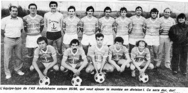 As Andolsheim équipe 1 1985-1986