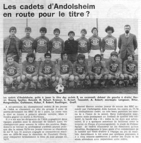 Asa Cadets 1978-1979