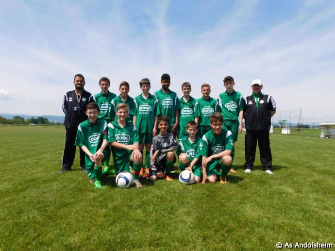 U 15 A As Andolsheim Cycle Retour Saison 2015-2016