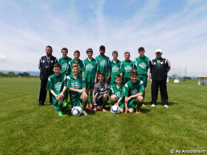 U 15 A As Andolsheim Cycle Retour Saison 2015-2016