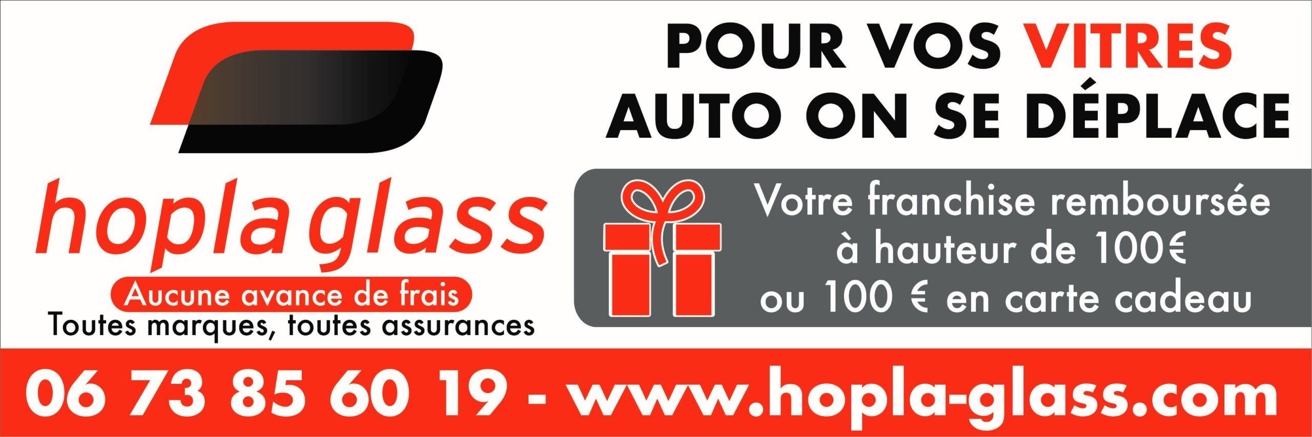 ASA Carte de visite Panneau HOPLA GLASS