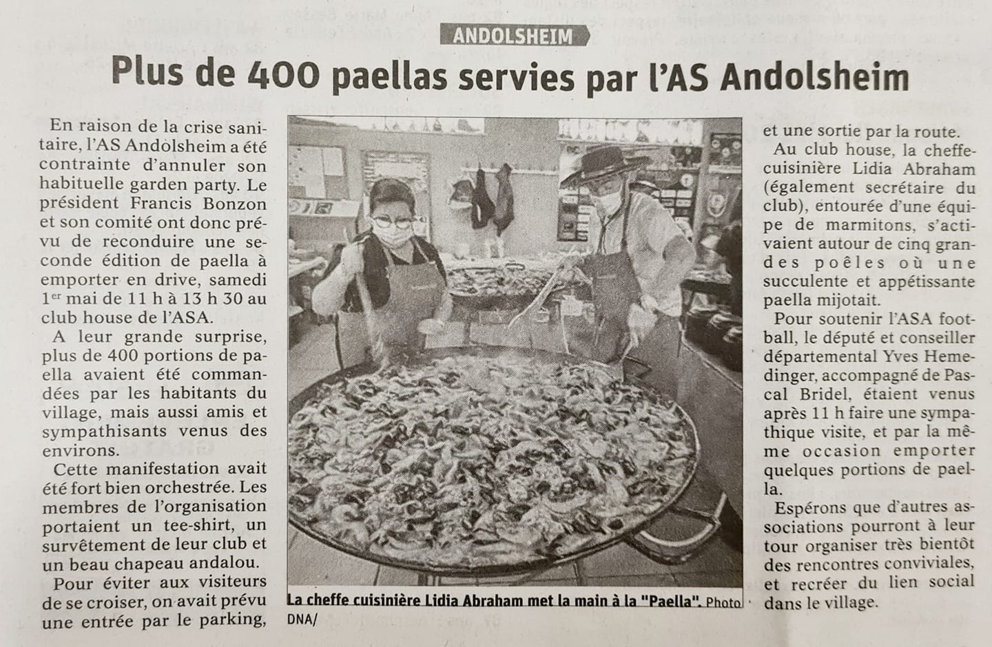 Article DNA Paella ASA 07052021