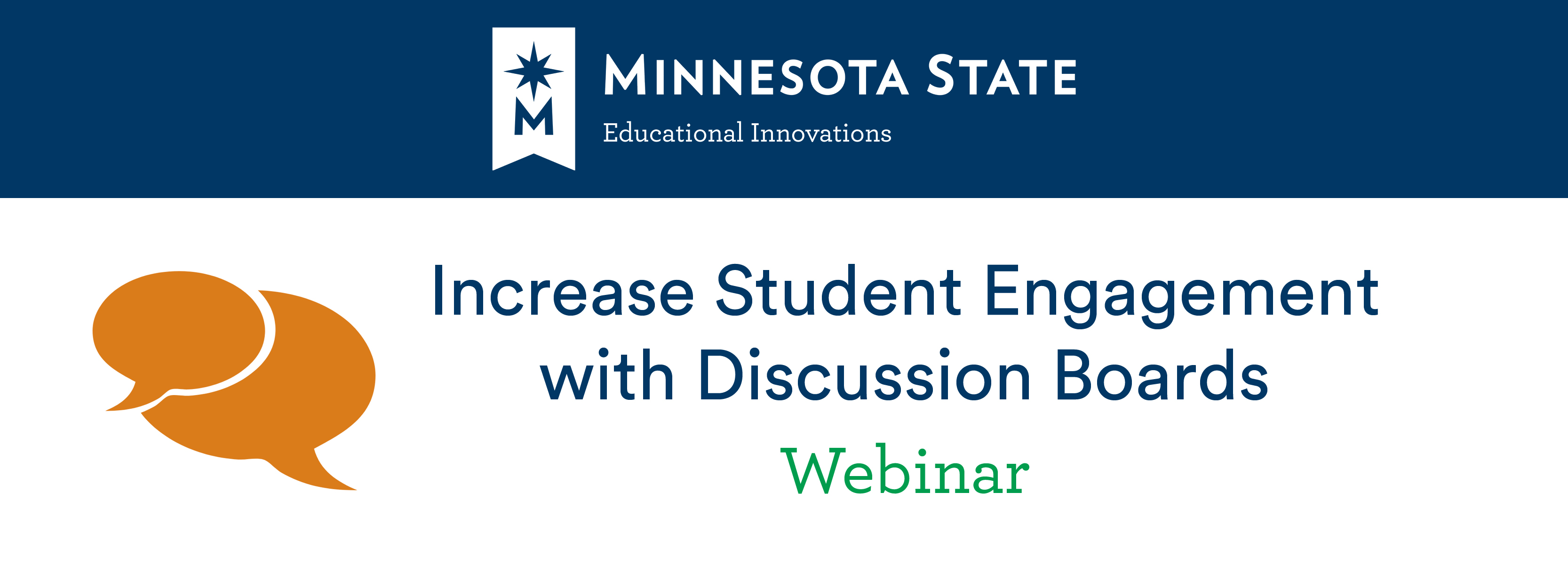 Increase student engagement with discussion boards