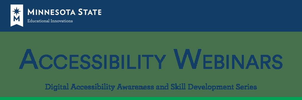 Accessibility Webinars