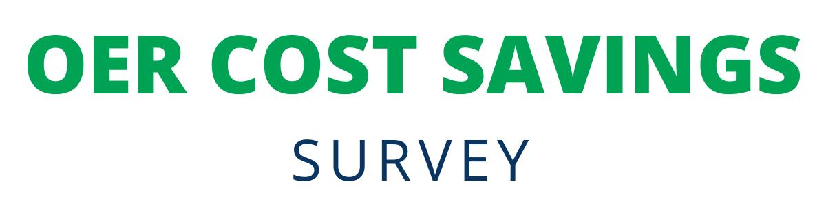 OER Cost Savings Survey Banner