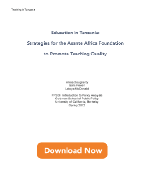 Strategies for Asante Africa Foundation