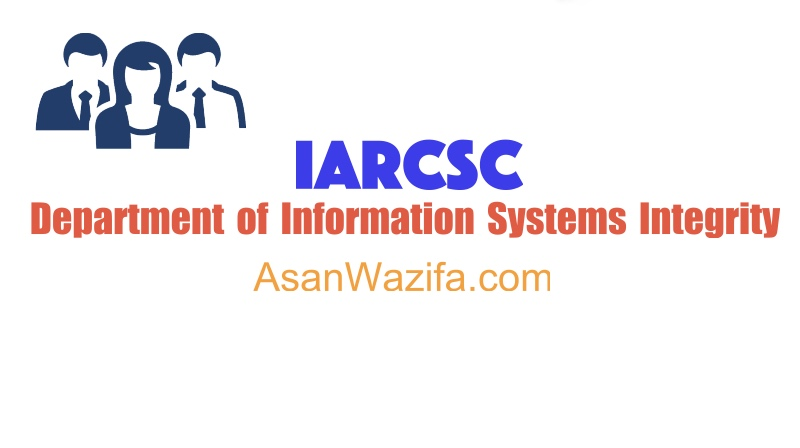 Department of Information Systems Integrity - iarcsc