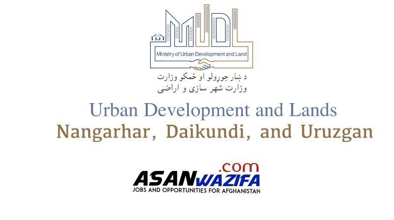 Department of Urban Development and Lands of Nangarhar, Daikundi, and Uruzgan provinces