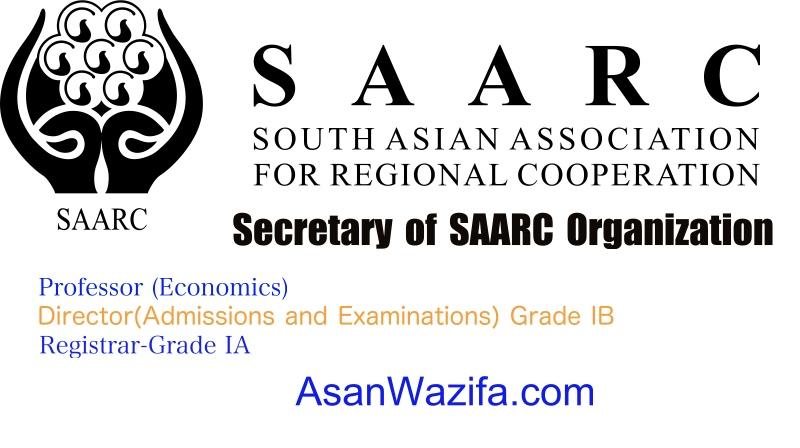 Jobs at Secretary of SAARC Organization - Kabul