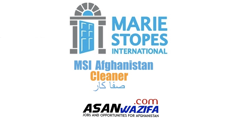 Marie Stopes International Afghanistan (Cleaner )