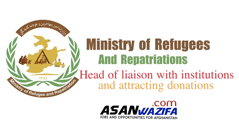 Ministry of Refugees and Repatriations ( Head of liaison with institutions and attracting donations )