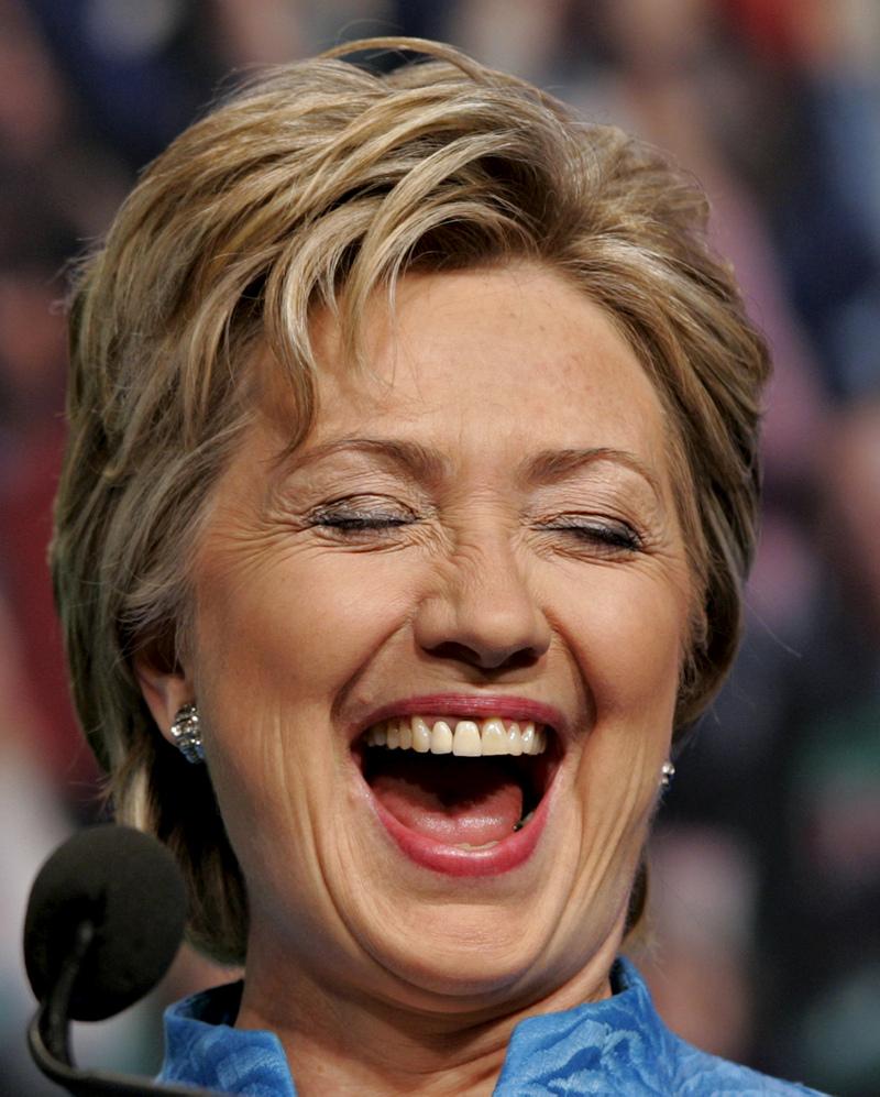 Hillary Clinton is happy
