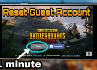 PUBG Mobile guest account