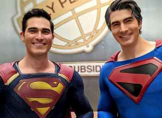 Tyler Hoechlin and Brandon Routh
