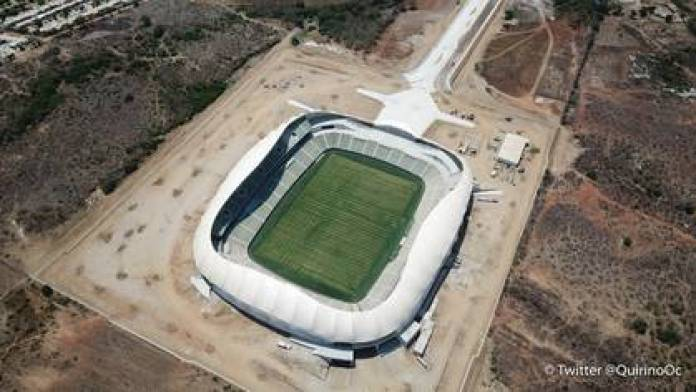 For the construction of the new soccer stadium, the Government of Sinaloa spent 652.2 million pesos (Photo: Twitter / @QuirinoOC)