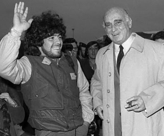Nicolau Casaus and Diego Maradona