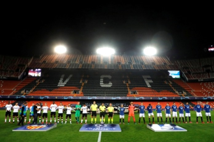 The return match between Valencia and Atalanta was played behind closed doors after the advance of the coronavirus in Spain