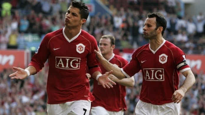 Giggs and Ronaldo shared six years at United