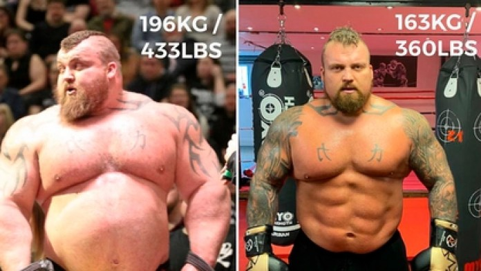 Eddie Hall also showed his physical transformation and how he lost more than 30 kilos in three years Instagram
