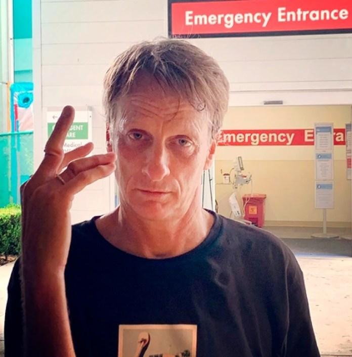 The skateboarder shared the photos on his instagram (@tonyhawk)