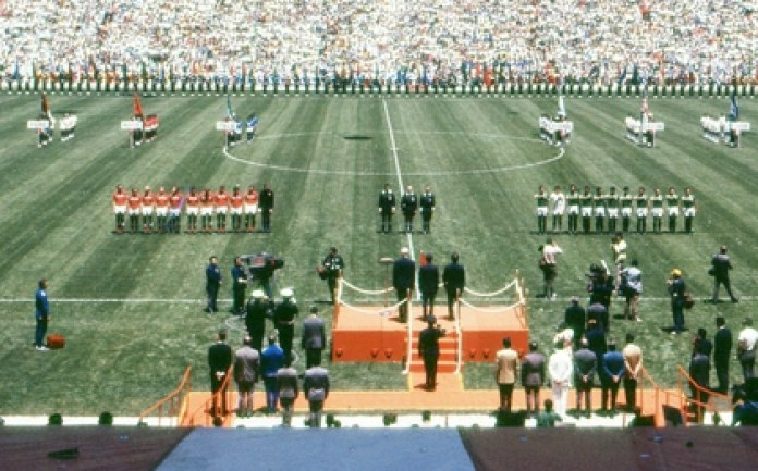 Inauguration of the World Cup in Mexico in 1970 at the Azteca stadium, with Mexico against the Soviet Union (Photo: Special)