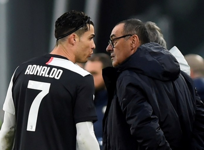 Cristiano Ronaldo's sister targeted Maurizio Sarri after the penalty shootout loss against Napoli in the Italian Cup final (REUTERS / Massimo Pinca)