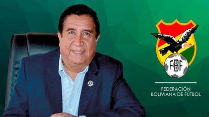 César Salinas, President of the Bolivian Football Federation (FBF)