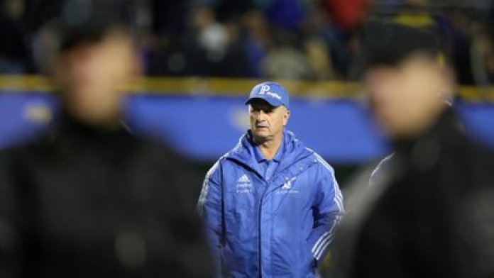 Scolari at La Bombonera, in 2018: it was on the occasion of the semifinal between Xeneize and Palmeiras, for the Copa Libertadores (REUTERS / Marcos Brindicci)