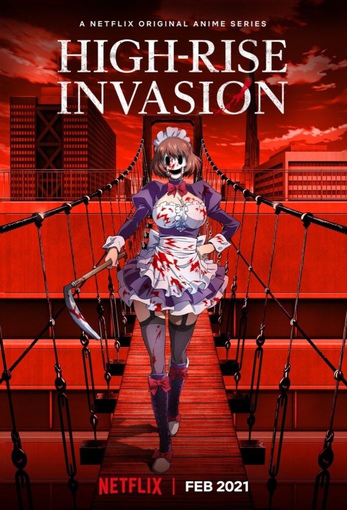 Netflix confirms High-Rise Invasion anime for February 2021 - anime premieres - netflix anime news for 2021