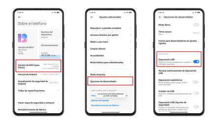 Xiaomi Development Options