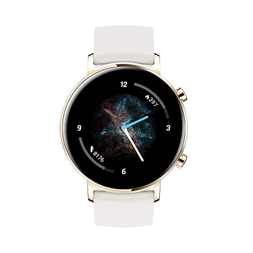 """HUAWEI Watch GT 2 - Smartwatch with 42mm Case, Up to 1 Week Battery, AMOLED 1.2 Touch Screen"""", GPS, 15 Sports Modes, 3D Glass Display, heart monitoring, White"""