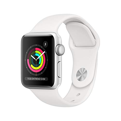 Apple Watch Series 3 (GPS, 38mm) Silver Aluminum - White Sport Band