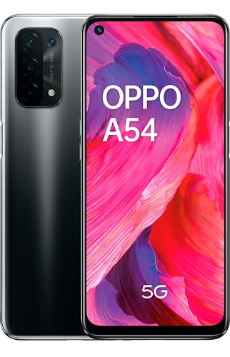 "OPPO A54 5G - Pantalla 6.49"" (LCD FHD + 90Hz, 4 GB RAM + 64 GB Storage, Qualcomm Snapdragon 480 5G, Quad Camera 48 + 8 + 2 + 2 MP, 5000 mAh with 10 W Fast Charge) Black [Versión ES/PT]"