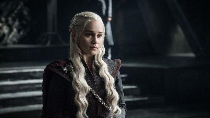 Emilia Clarke as Daenerys Targaryen on HBO's Game of Thrones.