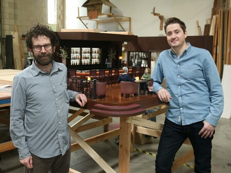 Charlie Kaufman and Duke Johnson during the production of Anomalisa