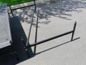 "Stage Right quick assembly Z brackets are adjustable from  16"" to 24"" and will easily handle rough outdoor terrain."