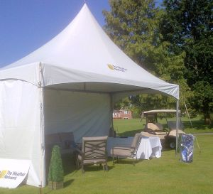 This is the tent for The Weather Network