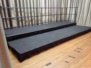 Deck assembled as a Choral Riser for a sitting and standing Choir.